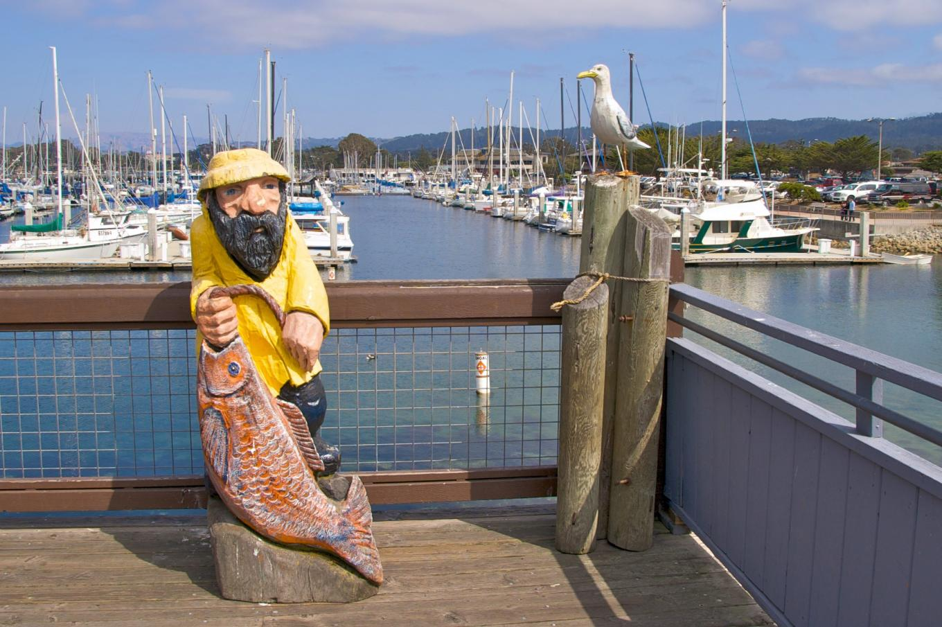 Fisherman Statue on Wharf