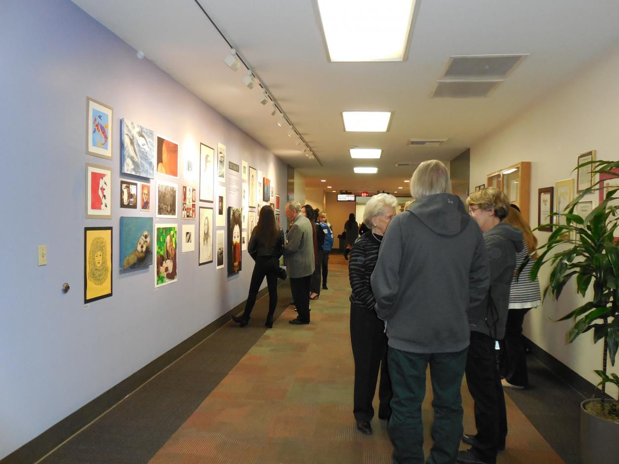 Youth Gallery - Fall 2017 - Santa Catalina School  Art Salon Exhibit Opening