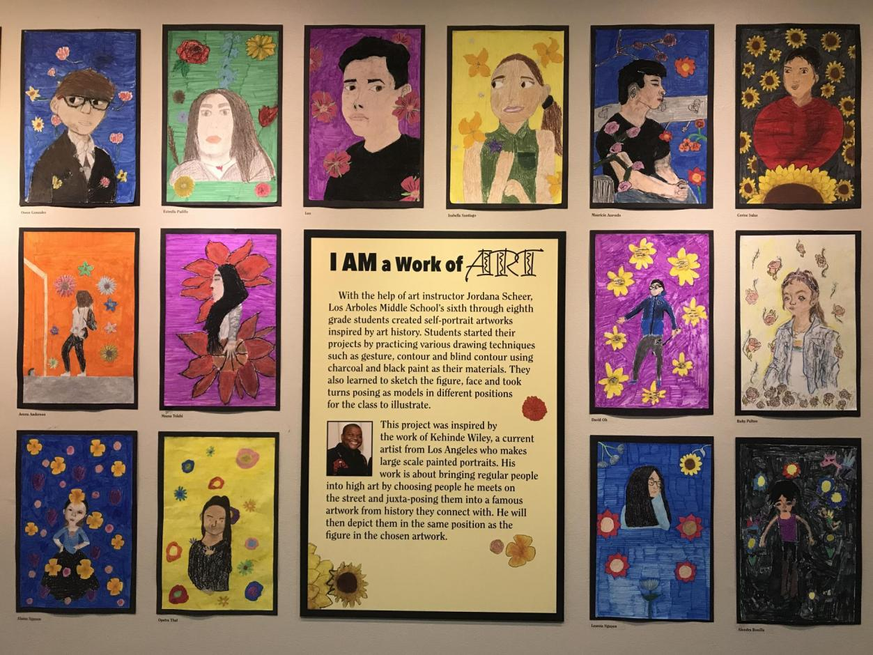 Youth Gallery - Fall 2019 - Los Arboles Middle School I AM a Work of Art